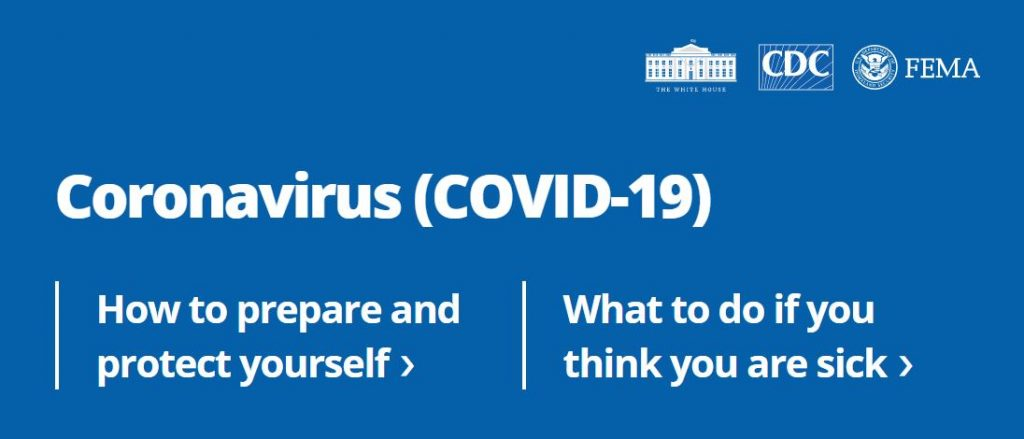 Coronavirus.gov Link to Website